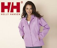 WOMENS HELLY HANSEN SEVEN WATERPROOF JACKET - SIZE MEDIUM - POWDER PURPLE.
