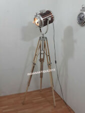 BEST DESIGNER WOODEN SPOT LIGHT FLOOR LAMP SEARCHLIGHT WITH TEAK TRIPOD STAND