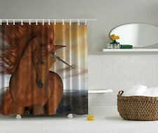 Majestic Unicorn Fabric Graphic Shower Curtain Horse Western Lakeside Bath Decor