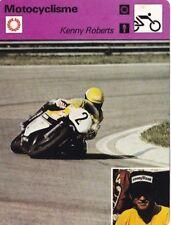 MOTO carte fiche photo KENNY ROBERTS