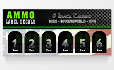 SPRINGFIELD XD /XDM 9MM Black Caliber Numbered Magazine Base Decal 6 PK