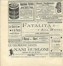 Stampa antica pubblicità ROSATI FERDINANDO telefoni telegrafi 1894 Antique print