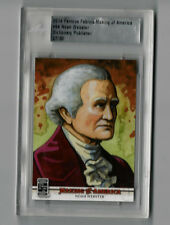 Noah Webster 2014 Leaf Famous Fabrics Making Of America #64 Rare 27/30