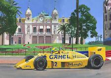 Paper Print Camel Lotus Honda 97T 1987 #12 Ayrton Senna (BRA) Toon Nagtegaal OE