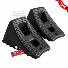 2 PACK Heavy Duty Wheel Chocks RV Camper Trailer Car Truck Stopper Block *New*