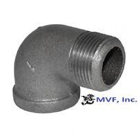 """1/4"""" 150 NPT 90° Street Elbow Black Malleable Iron Fitting <MI100241BMI"""