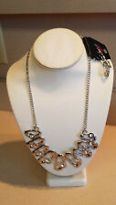 Paparazzi Silver Tone Rhinestone Necklace And Earring Set (NEW)