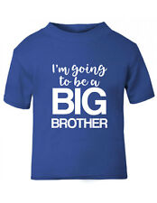 I'm Going to Be a Big Brother T-shirt ,red/grey/blue,sizes 6-12 mths to 5-6yrs