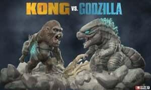 Chibi Godzilla vs Kong figures 3D printed