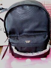 Gorgeous VICTORIA SECRET Nylon PYTHON Black Women's Lady's Backpack