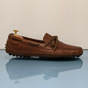 COLE HAAN Mens 8.5 M Brown Leather Driving Moccasins Loafers Slip On Shoes