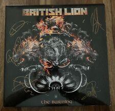 British Lion signed Lp Vinyl The Burning autographed Steve Harris Iron Maiden