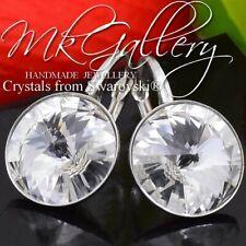 Pendientes de plata cristal (claro cristales) 12mm Rivoli de Swarovski ®