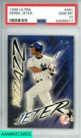 1998 FLEER ULTRA PIZZAZZ Derek Jeter #481 NEW YORK YANKEES PSA 10 GEM MINT