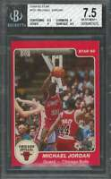Michael Jordan Rookie Card 1984-85 Star #101 Chicago Bulls BGS 7.5 (6.5 9 9 9.5)