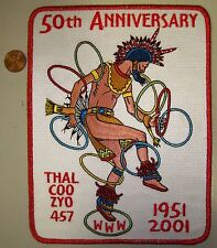 MERGED 617 OA THAL-COO-ZYO LODGE 457 TRI-STATE AREA FLAP 50TH ANN JACKET PATCH