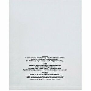 More Sizes Available Permanent Adhesive by Spartan Industrial 200 Count 14 X 20 Self Seal 1.5 Mil Clear Plastic Poly Bags with Suffocation Warning