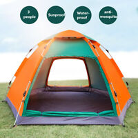 3-4 Person Waterproof Auto Tent Outdoor Family Camping Hiking Fishing ❤