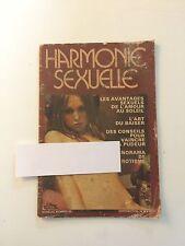 harmonie sexuelle revue ancienne  / sexe PIN UP CHARME EROTISME / NO PLAY BOY