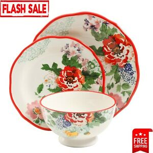 12-Piece Dinnerware Set The Pioneer Woman Floral Design Dishes Service For 4