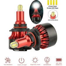 9006 HB4 360 degree 3D 120W 12800LM 8 Sides LED headlight HID 6000K White bulbs