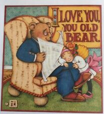 Mary Engelbreit Arwork- I Love You Old Bear-Handmade Fridge Magnet