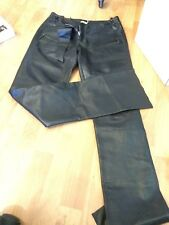 MAX STUDIO BLACK LEATHER MOTORCYCLE ZIPPER PANTS SPECIAL EDITION $550 Size 6
