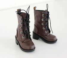 1/4 bjd Myou Kate Wiggs msd boy doll brown combat boots shoes dollfie S-129M