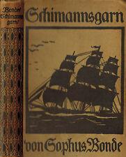 Bonde, Schiesser Uomo filati, esperienze fusa A. marinaio vita, marinaio filati, 1912