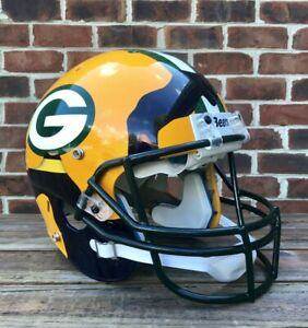 Aaron Rodgers Ripped Green Bay Packers+ Cal Bears Authentic Football Helmet