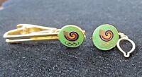 1988 Olympics Seoul Korea Tie Clasp Clip Bar Chain Pin Set