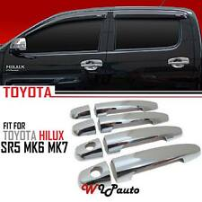 Chrome Door Handle Cover Toyota Hilux sr sr5 vigo mk6 7 kun26 4 Doors Double Cab