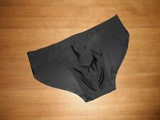 Mens Medium Flat Seamless Second Skin Ice Silk Black Pouch Briefs Lingerie UK
