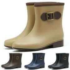 Womens Waterproof Ankle Boots Ladies Warm Rain Wellies Chelsea Casual Shoes New
