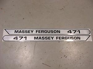 NEW 471 MASSEY FERGUSON TRACTOR HOOD DECAL KIT HIGH QUALITY VINYL DECAL SET 🎯