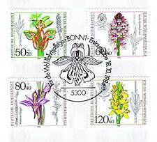 BRD 1984: Orchideen! Wohlfahrt Nr. 1225-1228 mit Bonner Ersttagsstempel! 1A 1707
