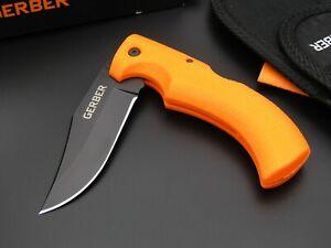Taschenmesser GERBER GATOR m. orangen Griff + schwarzer Klinge, Bushcraft Messer