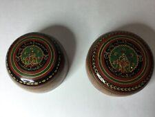 Pair Vintage Burmese Lacquerware Lacquer Bowls