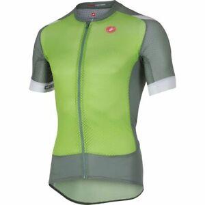 Castelli Climber's 2 Short Sleeve Men's Road Cycling Aero Fit Jersey Green XL