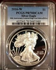 2016-W Proof Silver Eagle PCGS PR70 Limited Edition Proof Set 30th Anniversary