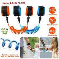 Toddler Baby Kids Anti-lost Safety Walking Harness + Wrist Link Hand Strap Leash