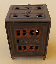 1891 Cast Iron Safe Still Bank by J. & E. Stevens