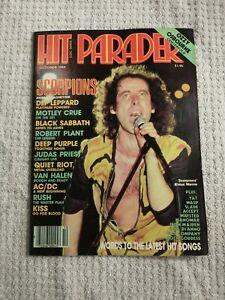 Hit Parader Magazine Oct 1984  Scorpions KISS Rush AC/DC Van Halen Priest Black