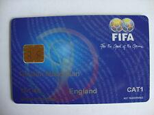 2002 CAMPIONATI DEL MONDO FIFA SMART CARD SQUADRA specifiche BIGLIETTO ENGLAND CAT 1 ottime condizioni