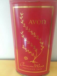 Perfumed Talc Avon Persian Woods Vintage 1964 1/4 Full