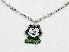 "Felix The Cat Necklace w/Cutout Pendant ~ ""Okay, So I'm Weird"" #YPD1160"