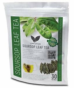 100% Pure SOURSOP/GRAVIOLA/GUANABANA HERBAL TEA LEAF 30 BAGS (Annona muricata)