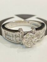 Pave 1,10 Cts Prinzess Marquise Runde Cut Diamanten Jahrestag Ring In 14K Gold