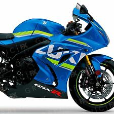 x2 Suzuki GSX R Logo Premium Vinyl Bike Moto GP Tank Fairing Decals - Stickers