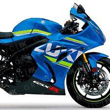X2 SUZUKI GSX R Logo Premium Vinile Bici Moto GP Serbatoio Carenatura Decalcomanie-Adesivi